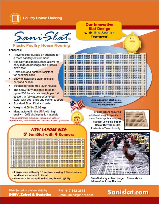 Sani Slat Poultry Flooring
